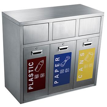 Урна для раздельного сбора мусора 3-х секционная Artbin Modesto