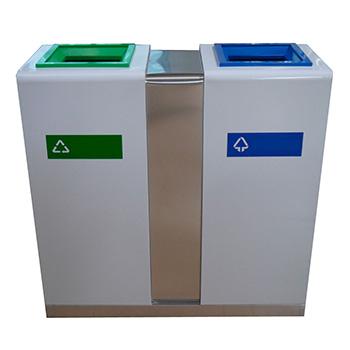 Урна для раздельного сбора мусора 2-х секционная Artbin Moderato