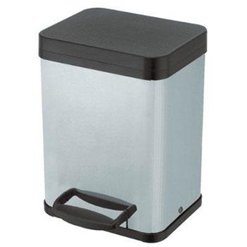 Урна педальная для раздельного мусора Hailo Trento Oko 2х11 Серебро