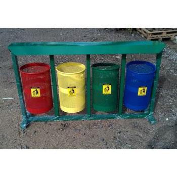 Урна для раздельного сбора мусора Светофор 4 бака