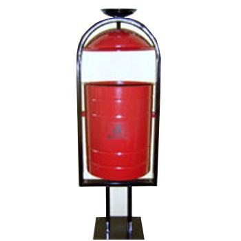 Урна металлическая цилиндрическая с пепельницей, 30л.
