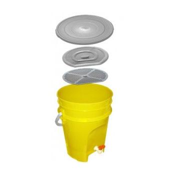 Контейнер-дезинфектор с краном для дезинфекции медицинских отходов