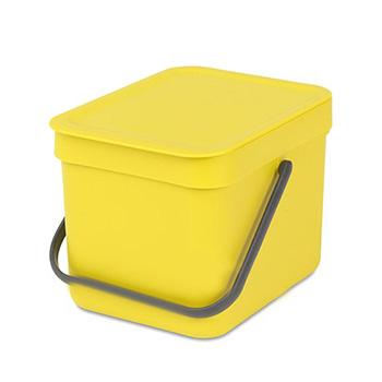 Урна-ведро пластиковое для медотходов Sort&Go 6л. желтое