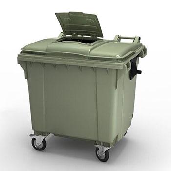 Мусорный контейнер MGBR-1100 с люком в крышке