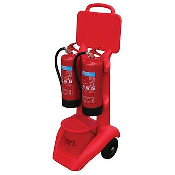 Пост пожарный мобильный для 2х огнетушителей